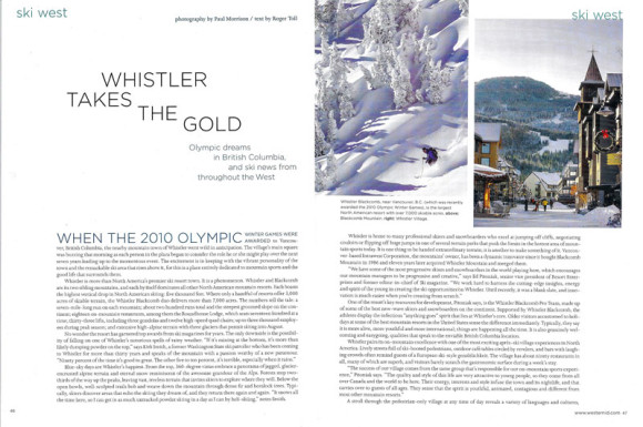 Whistler Takes The Gold
